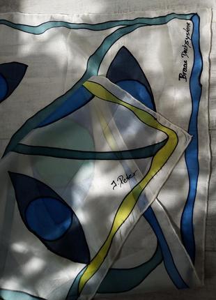 Платок батик шёлк хустка винтаж