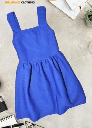 Ультрамариновое плиссированное платье influence