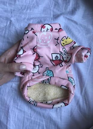 Кофточка с утеплителем на маленькую собачку