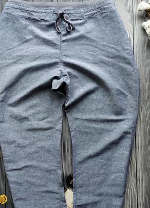 Льянные летние брюки