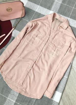 Пудровая рубашка