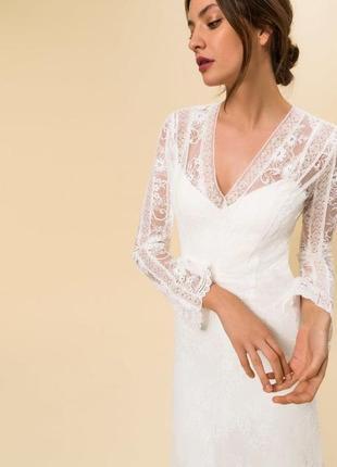 Платье свадебное кружевное бохо стиль богемное asos