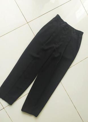 Классические черные штаны брюки трубы с очень высокой посадкой