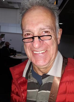 Мужские очки без дужек-пенсне в пластиковом чехле