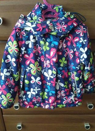 Кутрка курточка весна осінь в квіти цветочки