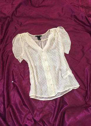 Блуза прозрачная, на пуговицах, сетка, шифон, летняя, полупрозрачная