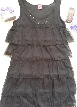 Кружевное маленькое чёрное платье от бренда george