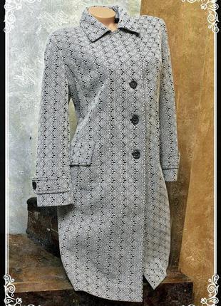 """Пальто кромби с принтом в стиле""""оп-арт"""",ретро,р.l-xxl"""
