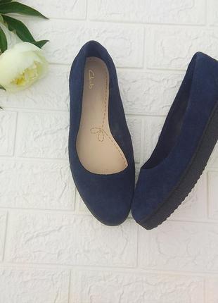 ✅ кожаные туфли балетки лодочки clarks 38 сост новых
