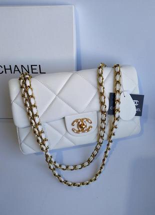 Брендовая женская сумочка клатч белая