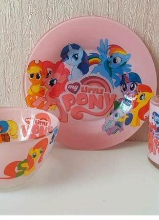 Детский набор посуды пони