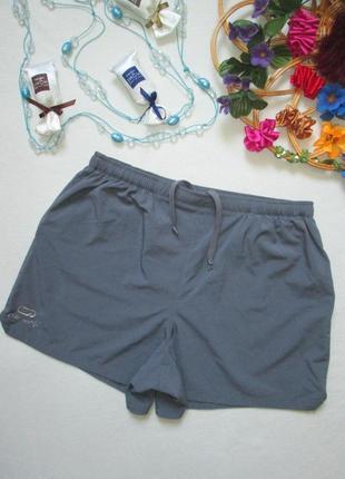 Суперовые короткие спортивные лёгкие шорты цвет мокрый асфальт kalenji