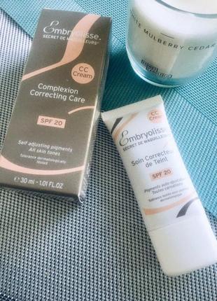 Embryolisse cc cream soin correcteur de teint spf 20 — легкий сс крем с эффектом фотошопа