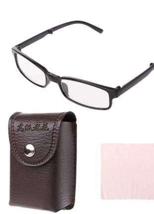 Новые складные очки-чехол кожзам