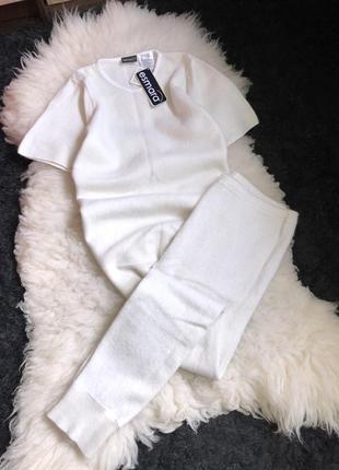 Шерсть шерстяной ангора костюм набор комплект термо поддева