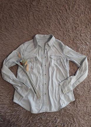 Джинсова рубашка жіноча gap