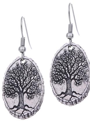 Оригинальные серьги серёжки дерево жизни