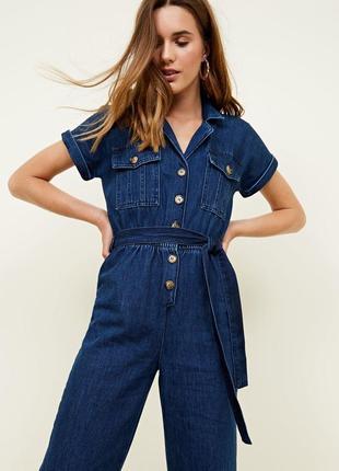Стильний комбінезон new look denim джинсовый комбинезон кюлоты пояс