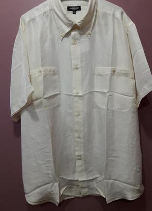 Шелковая рубашка кремового цвета