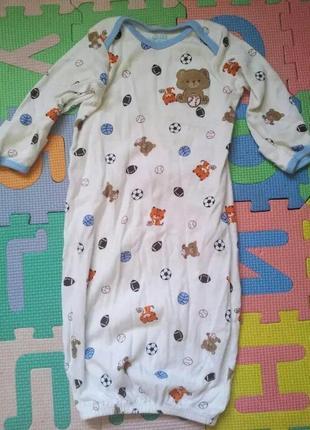 Спальниий мішок carters 0-3 міс спальный мешок ночнушка пижама піжама