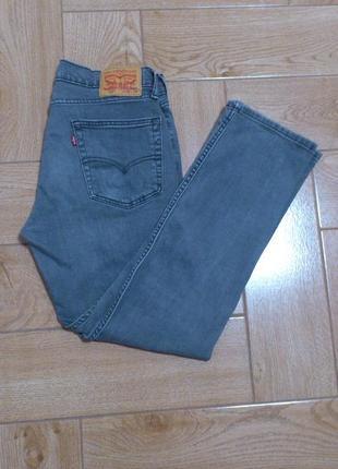 Оригинальные серые мужские джинсы levis straight fit levi strauss&co левайс 514 w30 l30 🇪🇬