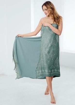 Многофункциональное полотенце-парео-шаль-покрывало от tchibo(германия), 95 х 170 см