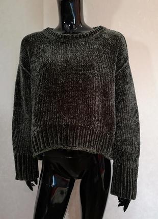 Плюшевый свитер zara over size