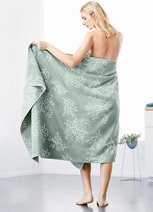 Большое шикарное махровое полотенце из хлопка от tchibo (германия), размер: 100 х 200 см