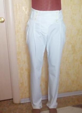 Классические вискозные белые брюки/брюки/штаны/джинсы