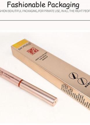 Двухсторонний водоустойчивый карандаш для бровей со щеточкой bioaqua b0124 фото