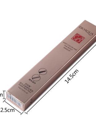 Двухсторонний водоустойчивый карандаш для бровей со щеточкой bioaqua b0125 фото