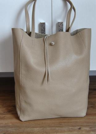 Кожаная сумка тоут шоппер borse in pelle / шкіряна сумка