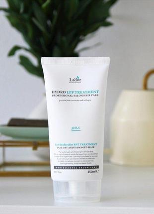 💙протеиновая маска для поврежденных волос la'dor eco hydro lpp treatment, 150 мл