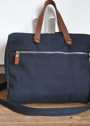Кожаная ** тканевая сумка kiomi / сумка унісекс