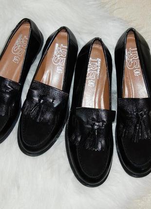 Туфли лоферы кожа 37 р стелька 24 см
