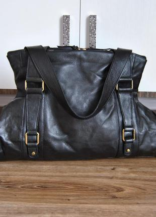 Кожаная большая сумка шоппер / шкіряна сумка