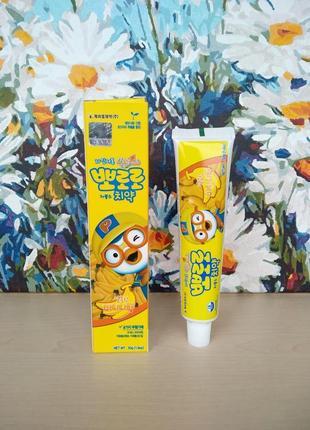 Pororo toothpaste banana детская зубная паста со вкусом банана