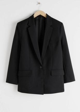 Женский пиджак жакет оверсайз на 1 пуговице, 3xl-4xl