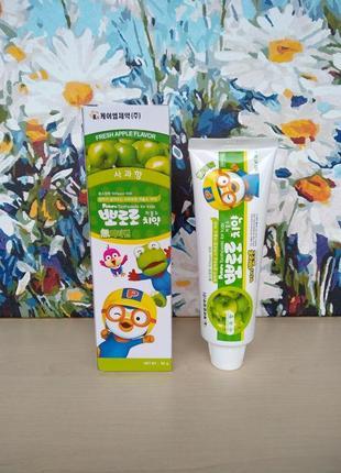 Pororo toothpaste for kids apple детская зубная паста со вкусом яблока