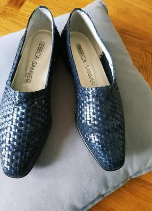 Кожаные туфли   rebeca sanver испания