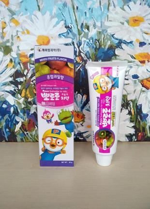 Pororo childrens toothpaste mixed fruit детская зубная паста
