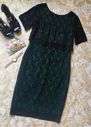 Шикарное платье. на бирке- 16 р-р(50)