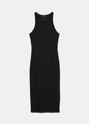 Класичне чорне плаття міді на замочку zara