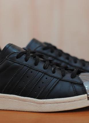 Черные кроссовки, кеды с металлическим носком adidas superstar, 36 размер. оригинал