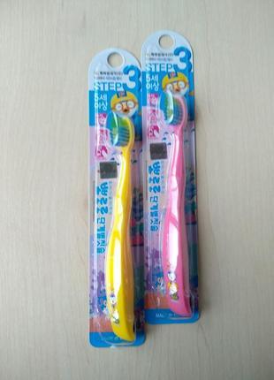 Детская зубная щетка pororo toothbrush step 3 от 5-ти лет