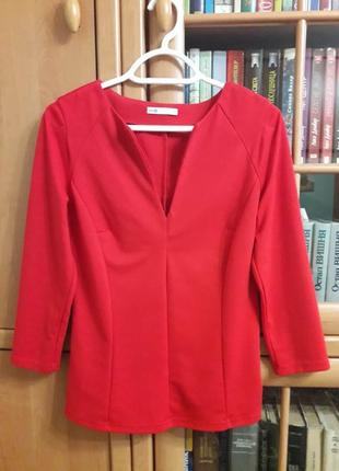 Красная блуза oodji