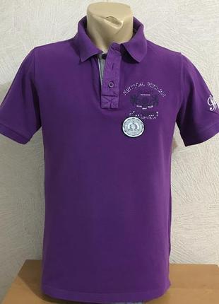 Peckott фиолетовая тенниска трикотажная рубашка пр-во германия
