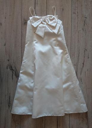 Платье нарядное wedding collection bhs 7-8 лет  с бантом