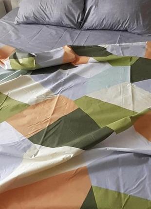 Постельный комплект в ромбы из бязи голд