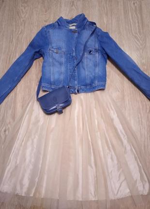 Стильный джинсовый пиджак куртка  whyred